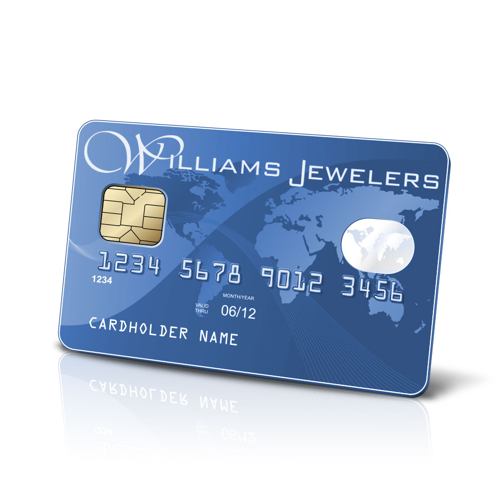 We offer Credit Cards and Financing at Williams Jewelers - Denver, CO